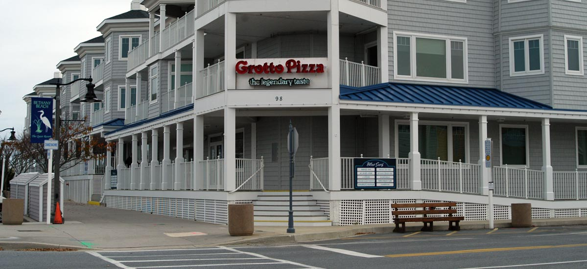 Bunting Construction Commercial Work - Grotto Pizza in DE.
